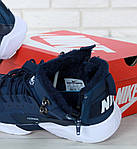 Мужские зимние кроссовки Nike Air Huarache Winter с мехом (сине-белые), фото 8