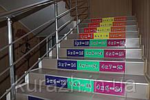 Набір наклейок на сходи «Таблиця множення»