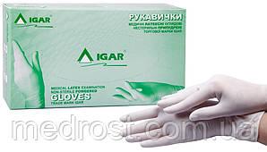 Перчатки латексные опудренные ИГАР р.XS