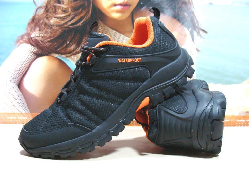 Термо - кроссовки Yike waterproof черно-оранжевые 43 р.