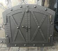 Кованная овальная дверка для хлебной печки Старе Місто 40x33