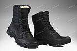 Берцы зимние / военная обувь ПЛАСТУН (black), фото 4
