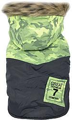 Куртка для животных Dobaz, Добаз, DogWear комуфляж зеленый