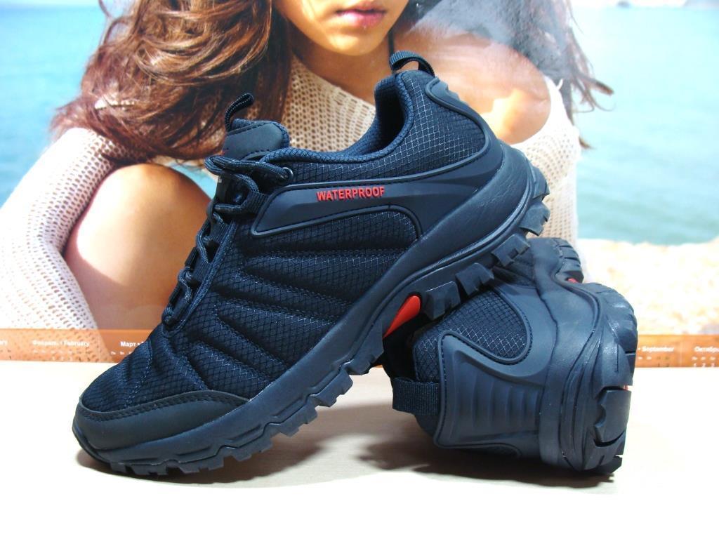 Мужские термо - кроссовки Yike waterproof синие 46 р.