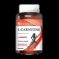 "Диетическая добавка ""L-carnitine"" Nutriplus 60 капсул Фармаси"