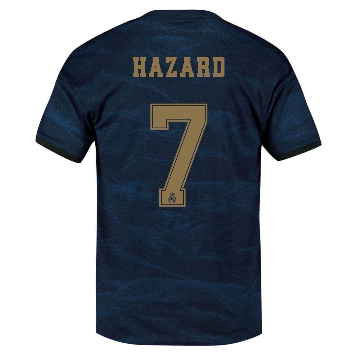 Футбольная форма Реал Мадрид Hazard 7 2019-2020 выездная синяя