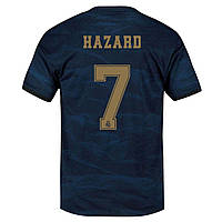 Футбольная форма Реал Мадрид Hazard 7 2019-2020 выездная синяя, фото 1