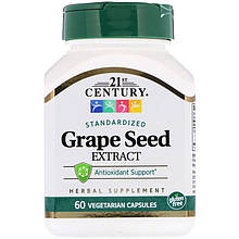 "Экстракт виноградных косточек 21st Century ""Standardized Grape Seed Extract"" (60 капсул)"