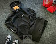 Тёплый спортивный костюм Under Armour черного цвета