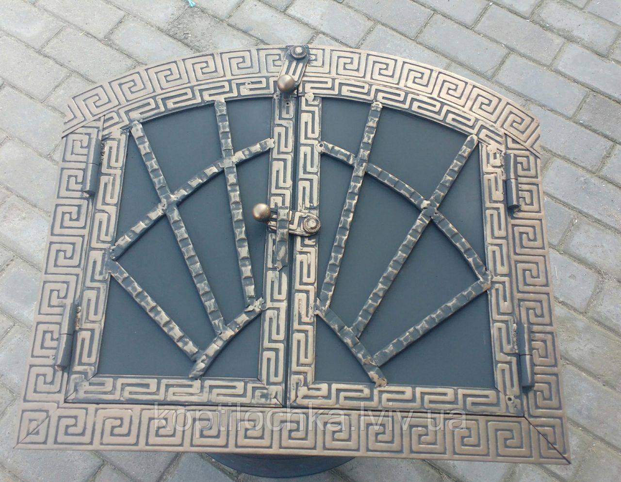"""Дверка для хлібної печі  """"Павутинка овал"""" 40x33"""