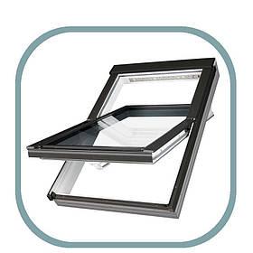 Мансардне вікно ПВХ Факро PTP-V U3 55 х 78 см