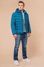 "Куртка мужская зимная Braggart ""Aggressive"" на тинсулейте  бирюзовая размер 48 50 52 54 56, фото 3"