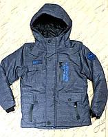 Зимняя куртка для мальчика 6-12 лет