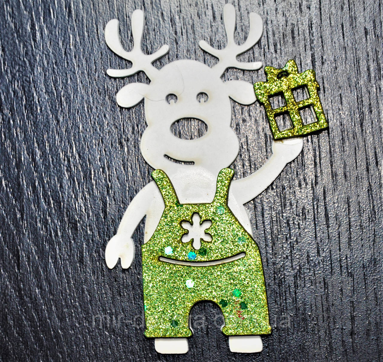 """Деревянная игрушка на елку """"Мальчик лось"""" высота 12 см"""