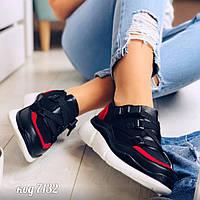 Кроссовки на ремешках  черные 38 размер, фото 1