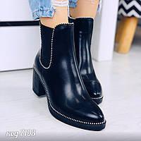 Демисезонные ботинки на каблуке 39 размер, фото 1