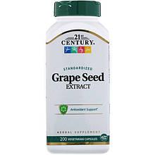 "Экстракт виноградных косточек, 21st Century ""Standardized Grape Seed Extract"" (200 капсул)"