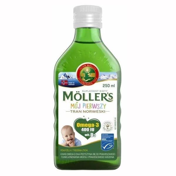 Mollers tran omega-3 Мой первый рыбий жир (норвежский рыбий жир для детей от 1 месяца) без добавок 250 мл
