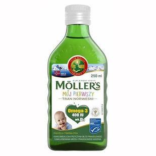 Mollers tran omega-3 Мій перший риб'ячий жир (норвезька риб'ячий жир для дітей від 1 місяця) без добавок 250 мл