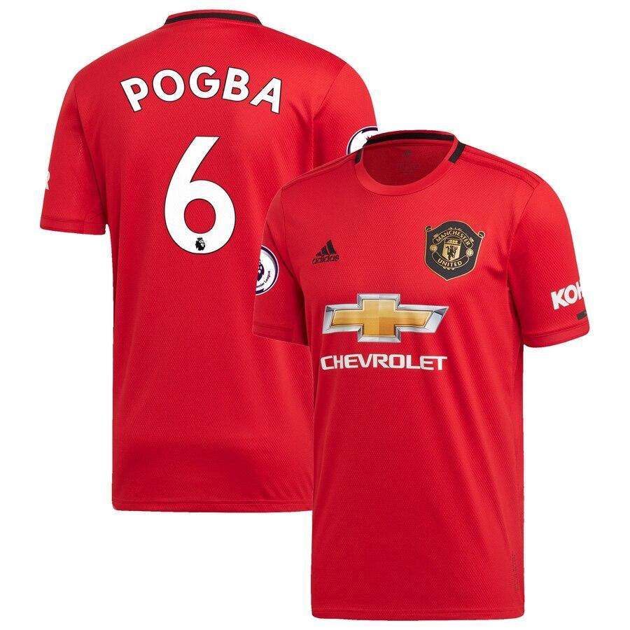 Футбольная форма  Манчестер Юнайтед POGBA 6 красная 2019-2020