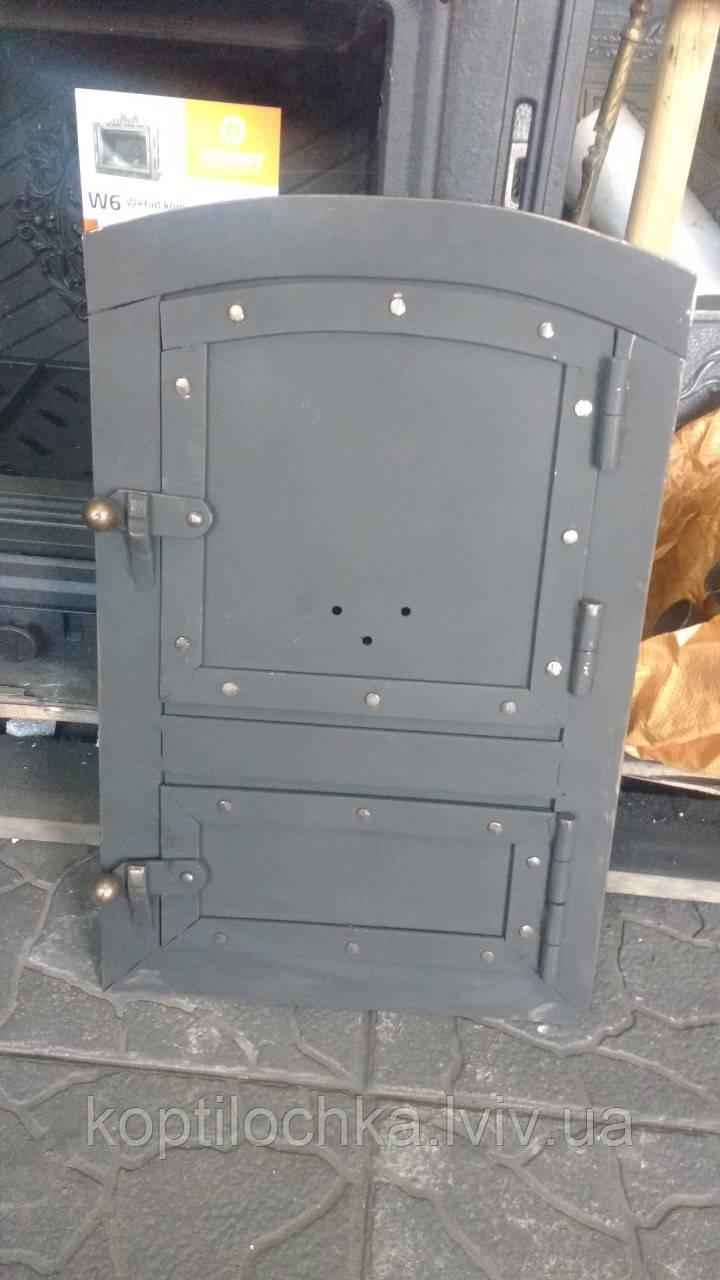 """Пічна дверка овальна """"Кнопка"""" 23x41"""
