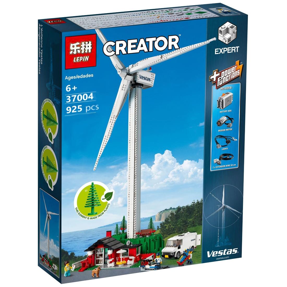 """Конструктор Lepin 37004 """"Ветряная турбина Vestas"""" (реплика Lego Creator Expert 10268), 925 дет"""