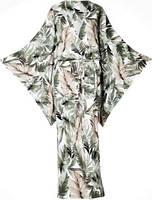 Женское платье-кимоно XL фисташковое