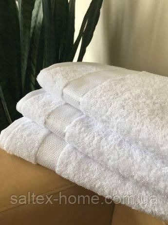 Махровое полотенце 40х70 см для лица, 400 г/м, Узбекистан, белого цвета