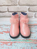 Ботинки на девочку на меху зимние, фото 2