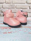 Ботинки на девочку на меху зимние, фото 5