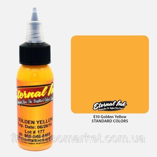 Краска для тату Eternal Golden Yellow (Медовый золотой) 1 унц