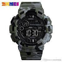 Skmei 1472 champion зеленый камуфляж мужские спортивные часы, фото 1