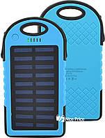 Внешний акумулятор Power bank Melad 30000 mAh с солнечной панелью и фонариком Blue (11905)