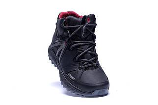 Мужские зимние кожаные ботинки в стиле Merrell Hyperlock Black, фото 2