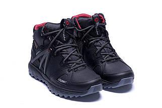 Мужские зимние кожаные ботинки в стиле Merrell Hyperlock Black, фото 3