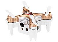 Квадрокоптер нано радиоуправляемый с камерой Wi-Fi Cheerson CX-10WD-TX бежевый