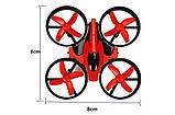 Квадрокоптер на радиоуправлении мини с 3 скоростями и подсветкой Eachine E010 красный, фото 6