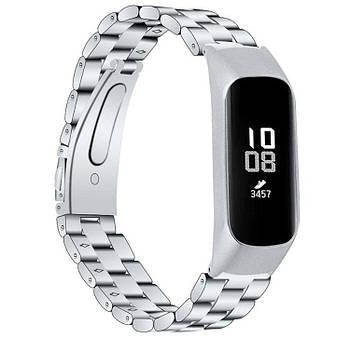 Металлический ремешок Primo для фитнес браслета Samsung Galaxy Fit E ( SM-R375 ) - Silver