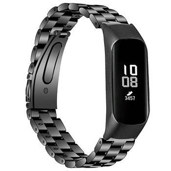 Металлический ремешок Primo для фитнес браслета Samsung Galaxy Fit E ( SM-R375 ) - Black