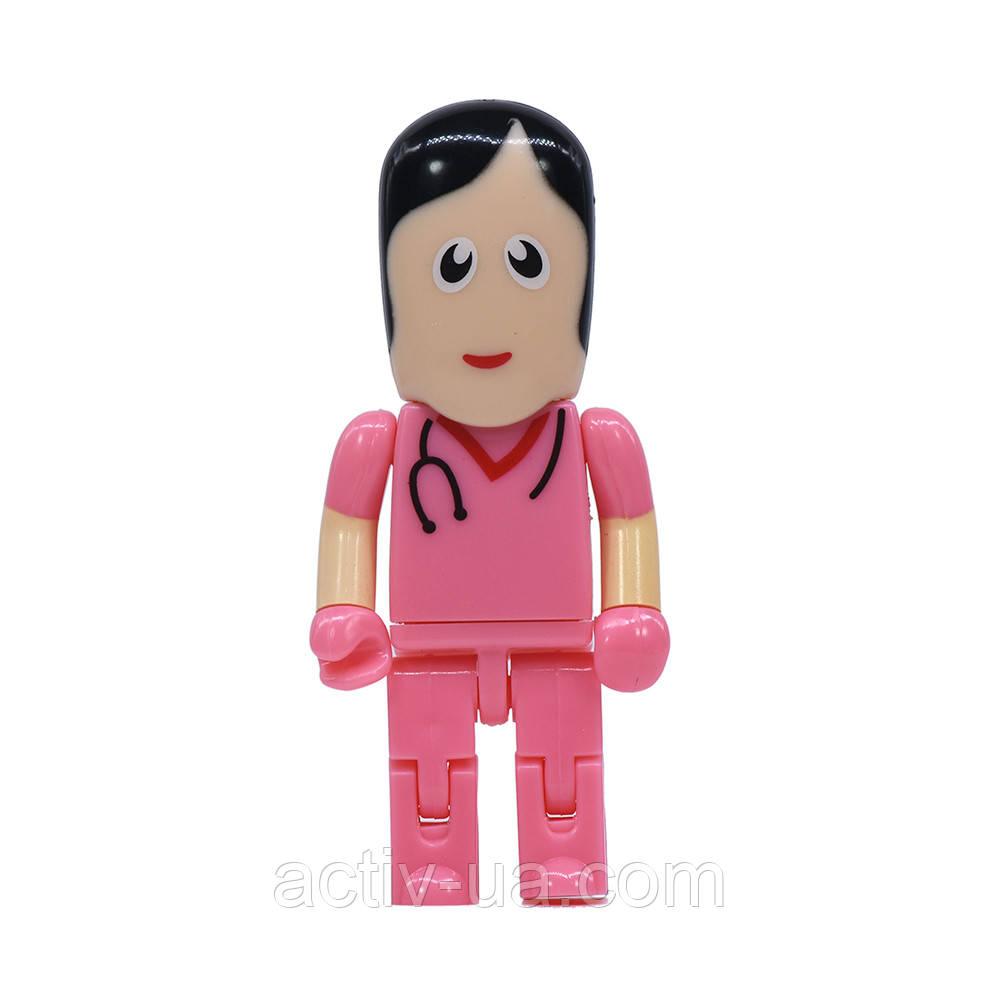 USB флешка Медсестра на 64гб, розовый