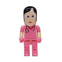 USB флешка Медсестра на 64гб, розовый, фото 1