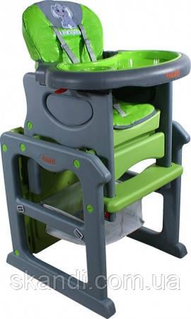 Стульчик для кормления ARTI Паули Слон (Серый Зеленый )