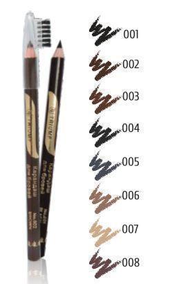Контурный карандаш для бровей TF COSMETICS  с щеточкой № 004 Серый