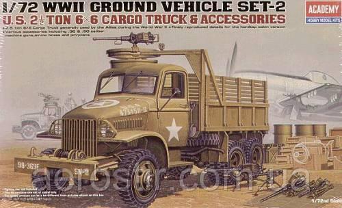 U.S. 2.5ton CARGO TRUCK & ACCESSORIES 1/72 Academy 13402