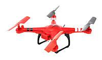 Квадрокоптер с подсветкой с барометром и камерой Wi-Fi WL Toys Q222K Spaceship красный