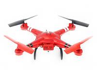 Квадрокоптер с яркой подсветкой с барометром и FPV HD камерой WL Toys Q222G Spaceship красный
