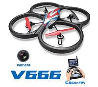 Квадрокоптер большой с FPV камерой с видом от первого лица с 4 скоростями полёта WL Toys V666 Cyclone