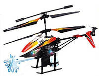 Вертолёт на радиоуправлении с водяной пушкой устойчивый к падениям и столкновениям WL Toys V319 SPRAY оранж