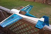 Модель самолета для сборки на радиоуправлении Precision Aerobatics Katana Mini 1020мм KIT синий