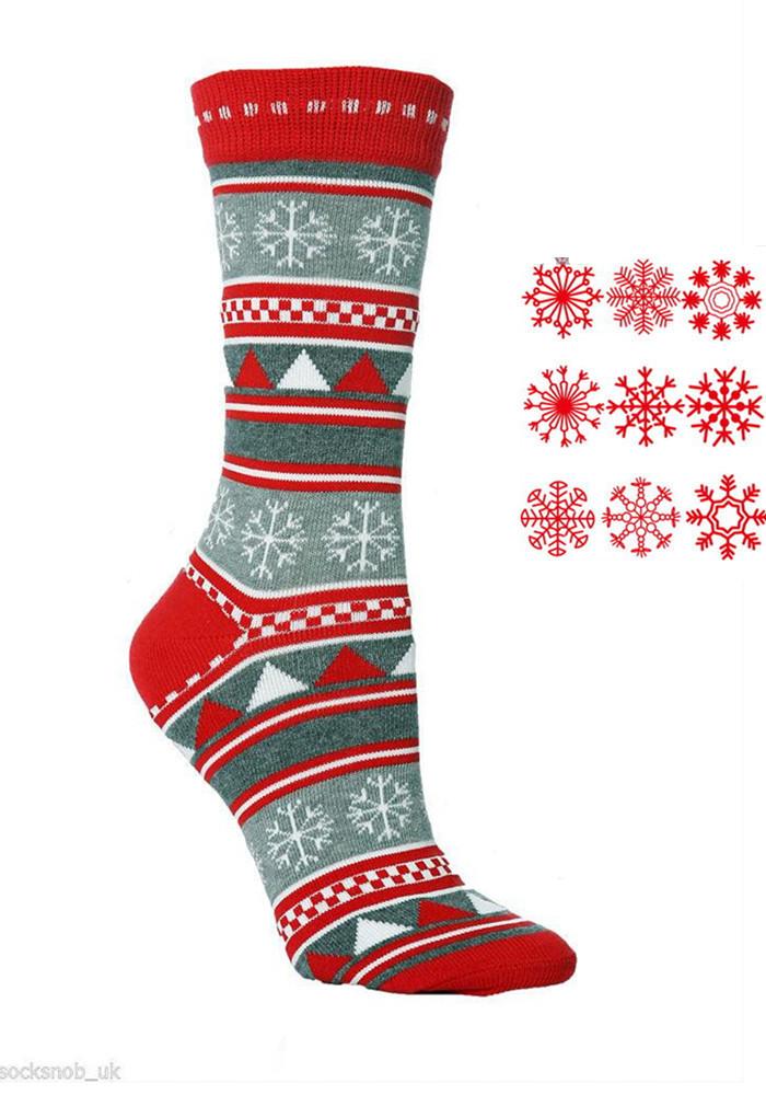 Новогодние женские носочки